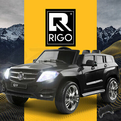 Rigo Kids Ride On Car Electric Black Toys Battery 12V Remote Children Black Cars