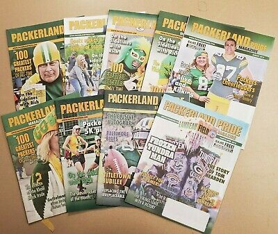 Green Bay Packers Titletown Packerland Pride Magazine Lot of 9  2018 - 2019