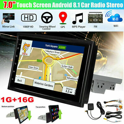"7"" 1DIN Android 8.1 Car Stereo MP5 Player FM Radio GPS WiFi Bluetooth Head Unit"