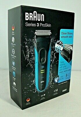 Braun Series 3 ProSkin Electric Razor Rechargeable & Cordless Wet & Dry-3040s