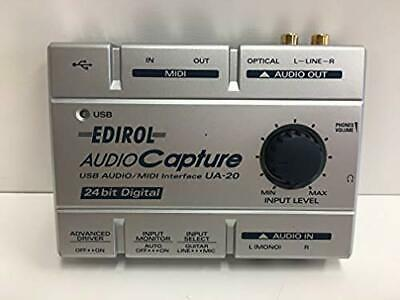 Roland EDIROL UA-20 USB Audio Interfacee MIDI Interface from Japan