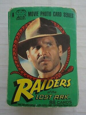 Raiders of the Lost Ark -1981 Scanlens Part Set (81 of 88) Cards