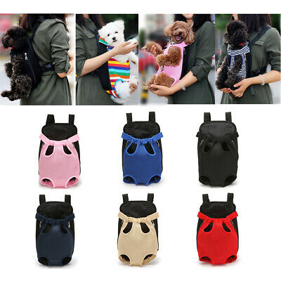 Adjustable Pet Cat Puppy Dog Carrier Front Pack Hiking Backpack Head Legs Out