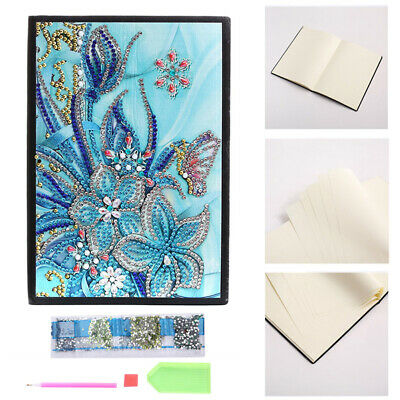 Butterfly Flower Diamond Painting A5 Notebook Journal Diary Book Gift