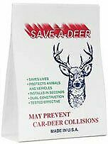 Animal Safety Alert Save A Deer Whistle Single Unit Air Activated Automobile New