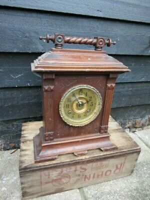 Antique Ansonia Sussex 8 Day Striking Clock For Restoration