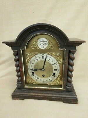 Large Westminster Chime 8 Day Bracket Clock For Spares Or Repair