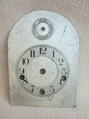 Small Antique Westminster Bracket Clock Dial 14.2 Cm High 10.3 Cm Wide