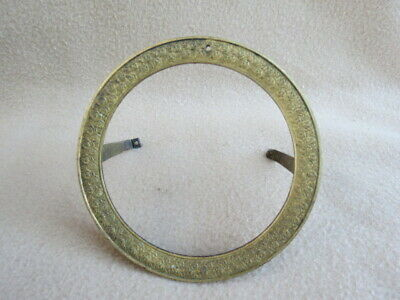 Antique Brass Figural Clock Dial Surround To Fit An Aperture 10.4 Cm