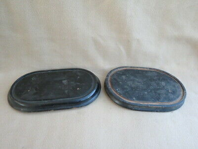 X 2 Antique Ebonised Wood Clock Dome Taxidermy Bases (Lot 2)