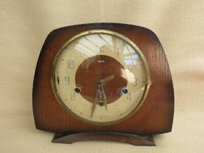 Vintage Smiths Lisbon Floating Balance Westminster Mantel Clock For Tlc