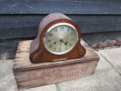 Vintage Enfield Striking 8 Day Mantel Clock For Tlc In Working Order