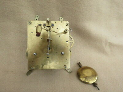 Vintage Haller 8 Day Striking Clock Movement, Hands, And Pendulum