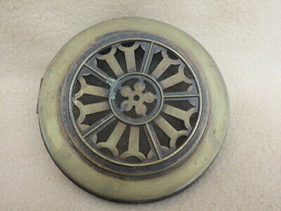 Antique German Pierced Brass Clock Back To Fit An Aperture 11.9 Cm (Lot 25)