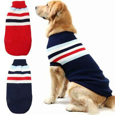 Pet Dog Cat Winter Warm Jumper Sweater Clothes Puppy Knitwear Knitted Coat