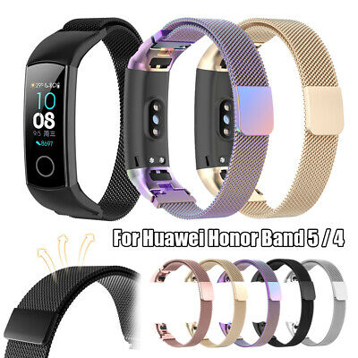 Mesh Magnetic Clasp for Huawei Honor Band 5 4 Loop Strap Watch Band Milanese