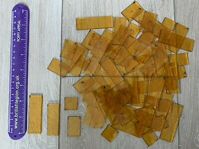 78 Pieces Of Yellow Glass - Mosaic - Stained - Sun Catcher
