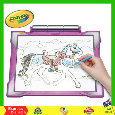 Crayola Light Up Tracing Pad Light Board Pink Multi RETRACABLE IMAGES Gift Ideas