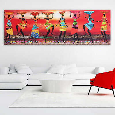 Abstract Canvas Print Painting African Women Poster Home Wall Art Decor Unframed