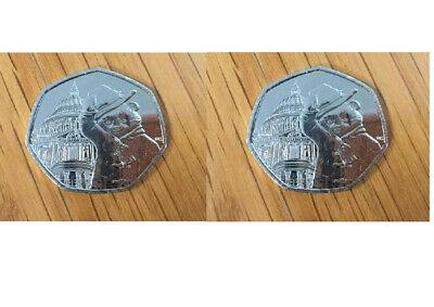 Paddington At St Paul's Cathedral 50P. Set Of 2. From Sealed Bags. Freepost