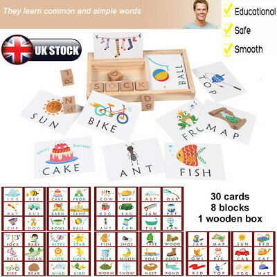 3-in-1 Baby Spelling Learning Wooden Game English Spelling Words Enlightenment