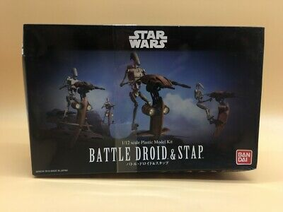 Star Wars Bandai Battle Droid & Stap Model Kit 1/72 Japan Japon New