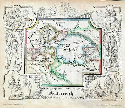 1846 Lowenberg Whimsical Map Of Österreich