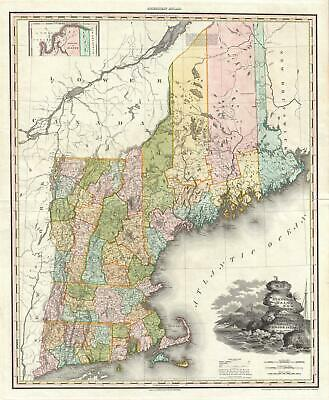 1825 Tanner Map of New England