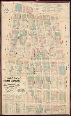 1869 Holmes Map of Little Italy, Nolita, and Soho, Manhattan, NYC