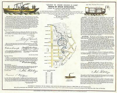1846 Hutchings Map of the Collect Pond, New York and Steam Boat (Five Points)