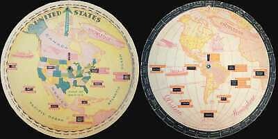 1931 Bocholtz Chart of Knowledge Map of North America and Western Hemisphere