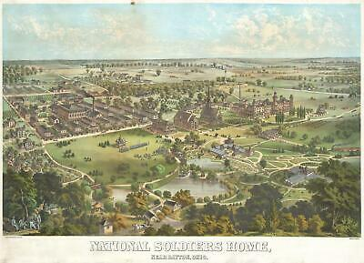 1878 Krebs View of the National Soldiers Home, Dayton, Ohio
