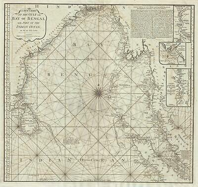 1797 Laurie and Whittle Map of the Bay of Bengal