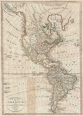 1818 Franz Pluth Map of North America and South America