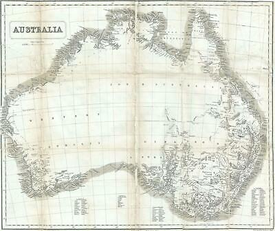 1853 John Capper Map of Australia (Victoria Gold Rush)