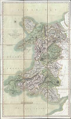 1827 Cary Case Map of Wales