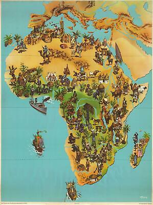 1957 Westermann Pictorial Map of Africa
