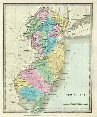 1835 Burr Map of New Jersey