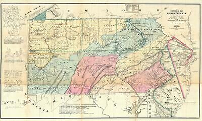 1875 Sheafer Map of Pennsylvania