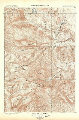 1904 USGS Topographic Map of Crandall, Yellowstone National Park