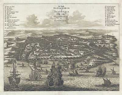 1686 Dapper View of Alexandria, Egypt