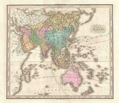 1825 Tanner Map of Asia