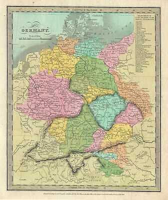 1834 Burr Map Of Alemania
