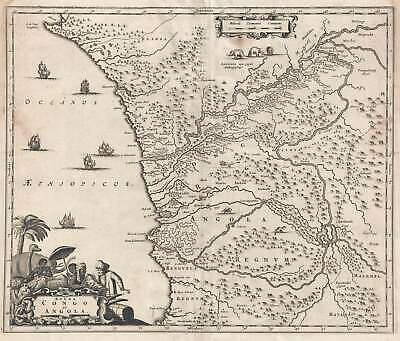 1686 Dapper Map of Western Central Africa