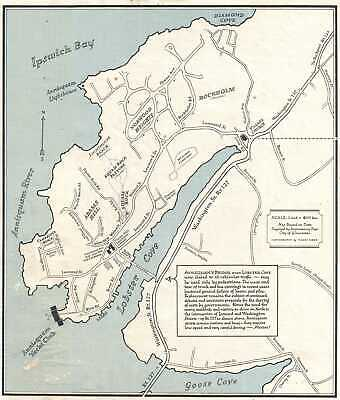 1968 Medidas Map Of Annisquam, Massachusetts