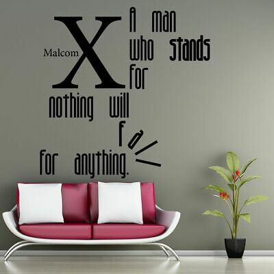 Malcolm X If you dont stand inspirational vinyl decal wall word art sticker 28i
