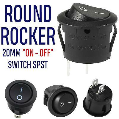 Waterproof Cover  Pip 5x Car 12V Round Rocker Boat Toggle SPST ON//OFF Switch