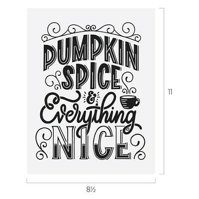 Chalk Couture PUMPKIN SPICE Transfer NEW everything nice Fall