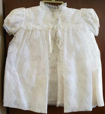 Vintage Madonna Satin and Lace Christening Gown Gift Set by Carol Joy