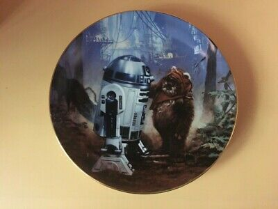 1987 Star Wars R2 D2 And Wicket Plate  Hamilton Numbered New Boxed Sellado